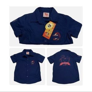 Kids baby Mascots NRL collared T-shirt roosters